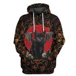 Alohazing 3D Black Cat Halloween Tshirt Hoodie Apparel