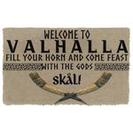 Alohazing 3D Welcome To Valhalla Doormat