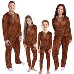 Alohazing 3D Bigfoot Cosplay Family Pajamas