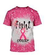 Alohazing 3D Fight Cancer Bleached Shirt