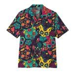 Alohazing 3D Day Of The Dead Cat Hawaii Shirt