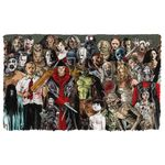 Alohazing 3D Halloween All Horror Movie Character Custom Doormat