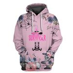Alohazing 3D Survivor Breast Cancer Witch Tshirt Hoodie Apparel