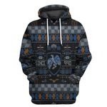 Alohazing 3D HP Ravenclaw House Ugly Pattern Tshirt Hoodie Apparel