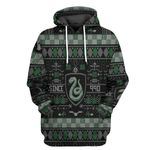 Alohazing 3D HP Slytherin House Ugly Pattern Tshirt Hoodie Apparel