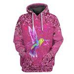 Alohazing 3D Hummingbird Breast Cancer Tshirt Hoodie Apparel