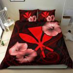 Polynesian Hawaii Duvet Cover Set - Hibiscus Red - Bn39