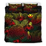Polynesian Bedding Set - Hawaii Duvet Cover Set Reggae Color - Bn39