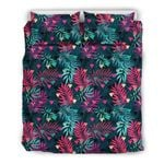 Hawaii Bedding Set, Palm Leaf Duvet Cover And Pillow Case J7