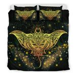 Hawaii Bedding Set, Tribal Manta Ray Tattoo Duvet Cover - Bn04