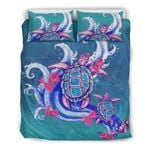 Turtle And Hibiscus Bedding Set Hawaii H5