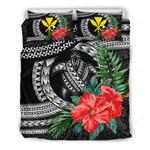 Kanaka Maoli (hawaiian) Bedding Set - Polynesian Turtle Hibiscus Black A24