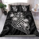 Polynesian Duvet Cover Set - White Pineapple - Bn12