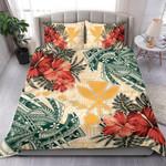 Hawaii Kanaka Maoli Bedding Set - Polynesian Hibiscus Flowers - Bn15