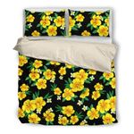 Hawaii Bedding Set, Hibiscus Duvet Cover And Pillow Case N1