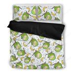 Coconut Banana Pattern Bedding Set Ha1