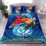 Polynesian Bedding Set Hawaii Duvet Cover Set - Turtle Under Sea - Bn39