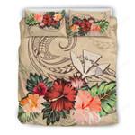 Kanaka Maoli Bedding Set Hawaii Hibiscus Polynesian Wave Th5