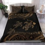 Hawaii Polynesian Bedding Set - Gold Sea Turtle - Bn12