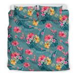 Hawaii Bedding Set, Tropical Duvet Cover And Pillow Case K5