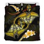 Guam Bedding Set Plumeria - Polynesian Manta Ray Yellow A18