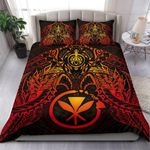 Polynesian Hawaii Duvet Cover Set - Red Turtle Manta Ray - Bn18