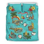 Hawaii Bedding Set, Hibiscus Island Duvet Cover And Pillow Case A0