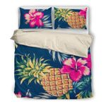 Hawaii Pineapple Bedding Set, Tropical Duvet Cover And Pillow Case G2
