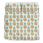 Hawaii Bedding Set, Pineapple Duvet Cover And Pillow Case A7