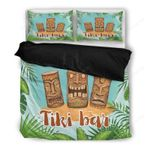 Hawaii Bedding Set, Tiki Bar Palm Leaf Duvet Cover And Pillow Case Th1