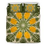 Hawaii Pineapple Bedding Set, Palm Leaf Duvet Cover And Pillow Case K5