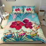 Polynesian Bedding Set - Turtle Hibiscus Duvet Cover Set - Bn11