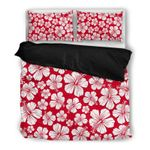Hawaii Bedding Set, Hibiscus Duvet Cover And Pillow Case K5