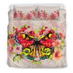 Hawaii Bedding Set, Hibiscus Butterfly Duvet Cover And Pillow Case H1