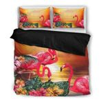 Hawaii Flamingo Bedding Set, Tropical Duvet Cover And Pillow Case H1