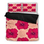 Hawaii Bedding Set, Hibiscus Duvet Cover And Pillow Case Q1
