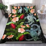 Kanaka Maoli (hawaiian) Bedding Set Turtle Hibiscus Duvet Cover And Pillow Case Th5