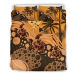 Hawaii Bedding Set - Orange Turtle Hibiscus  A24