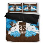 Hawaii Tropical Bedding Set, Tiki Head Duvet Cover And Pillow Case Th1