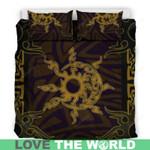 Hawaii Bedding Set, Tribal Sun Moon Duvet Cover And Pillow Case H9