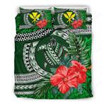 Kanaka Maoli (hawaiian) Bedding Set - Polynesian Turtle Hibiscus Green A24