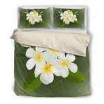 Hawaii Bedding Set, Plumeria Duvet Cover And Pillow Case H4