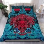 Polynesian Hawaii Bedding Set - Hawaiian Tiki (red) - Bn15