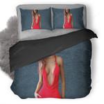Red Hot Dress Girl Duvet Cover Bedding Set Ng1210