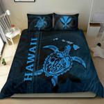 Polynesian Hawaii Duvet Cover Set - Turtle Hawaiian Blue - Bn39