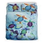 Hawaii Turtle Bedding Set, Honu Duvet Cover And Pillow Case A4