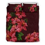 Hawaii Bedding Set, Hibiscus Duvet Cover And Pillow Case H9