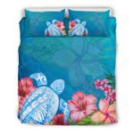 Hawaii Turtle Bedding Set, Honu Tropical Duvet Cover And Pillow Case H1
