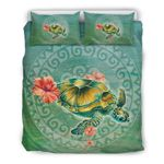 Hawaii Sea Turtle And Hibiscus Duvet Cover H1