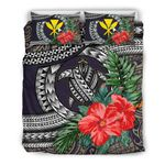 Kanaka Maoli (hawaiian) Bedding Set - Polynesian Turtle Hibiscus Purple A24